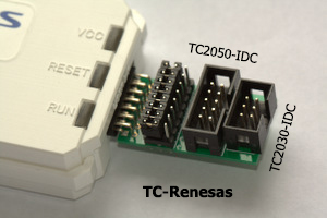 Renesas E1 with adapter