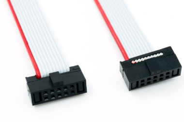 "10-pin Cortex Ribbon Cable 4"" length with 50 mil connectors"