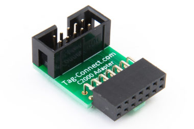 TC-C2000-F-180 adapter (female, with key) for TI DSP's and processors, including pull-up resistors