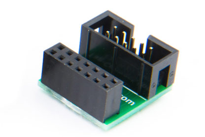 TC-C2000-F-90 adapter (female, no key) for TI DSP's and processors, including pull-up resistors