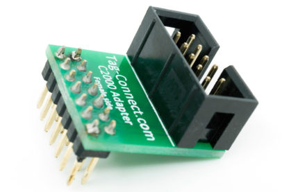 TC-C2000-F-90 adapter (male pins) for TI DSP's and processors, including pull-up resistors