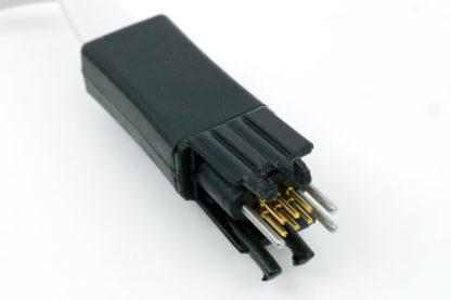 TC2030 6 pin plug-of-nails debug/programming connector with tiny PCB footprint