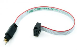 TC2030-IDC-NL 6-pin plug-of-nails to IDC debug/programming cable with small PCB footprint