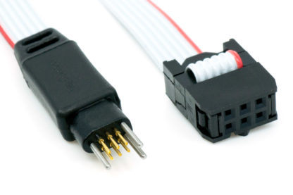TC2030-IDC-NL 6-pin plug-of-nails to IDC debug/programming cable with small PCB footprint connector