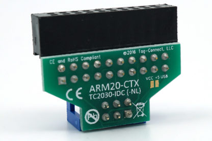 ARM Cortex adapter to 6 pin plug-of-nails for ARM SWD back view