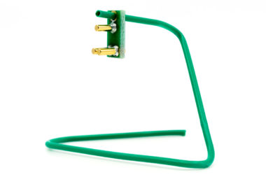 Green clip hanger for TC2030-CLIP & TC2050-CLIP plug-of-nails test/programming connectors