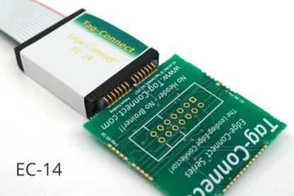 EC-14 Edge-Connect using near zero PCB board space - with demo board and label