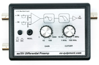 ee-701 differential preamplifier front panel