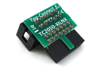 TC2050 XILINX Platform cable II adapter for Tag-Connect 10-pin cable - back view
