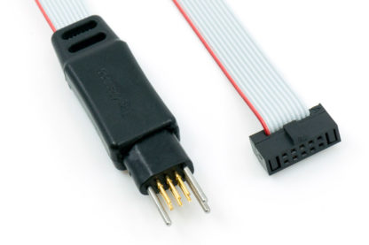 ARM Cortex programming cable with TC2030 plug-of-nails no-legs connector