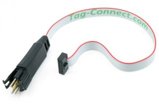 ARM Cortex programming cable with TC2030 plug-of-nails legged connector