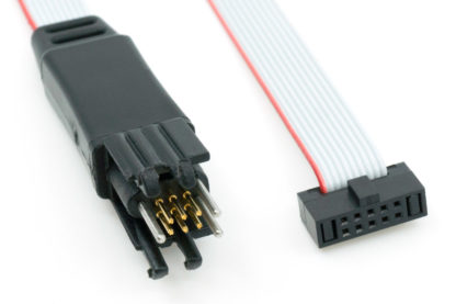 ARM Cortex programming cable with TC2030 plug-of-nails legged connector - connector details