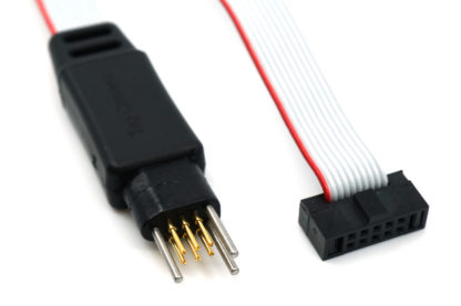 TC2030-ICESPI-NL for Atmel Ice debugger with 6-pin no-legs Plug-of-nail™ Tag-Connect connector - connectors view