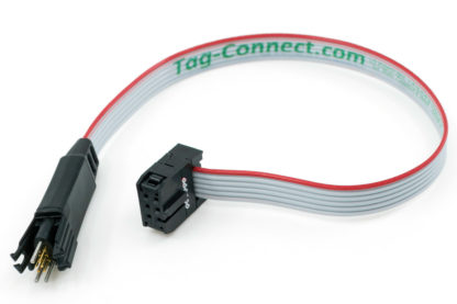 TC2030-IDC 6-pin plug-of-nails to IDC programming/debug cable with small pcb footprint