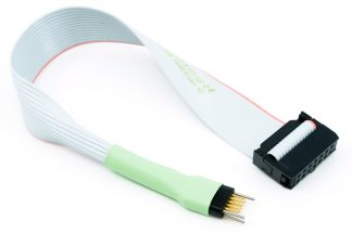 TC2050-IDC-430-NL cable with 10 pin no-legs plug-of-nails and 14 pin IDC for MSP430 debug