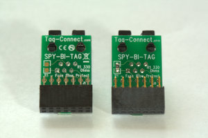 SPY-BI-TAG adapter with and without 330 ohm fuse-blow resistor