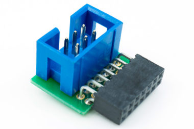 TC-XILINX6 adapter for 2mm 14-pin header found on Xilinx's Platform Cable II