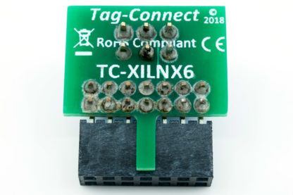 TC-XILINX6 adapter for 2mm 14-pin header found on Xilinx's Platform Cable II - rear view