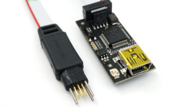 Blacksphere debugger with TC2030-CTX-NL programming cable