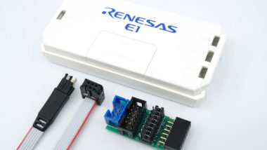 Renesas E1 with TC-RENESAS adapter and TC2030-IDC programming cable