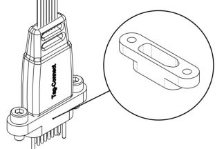 Fixture mounting bracket for Tag-Connect no-legs plug-of-nails cables