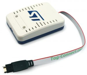 ST-Link V3 with TC2050-IDC-050-STDC14 programming cable