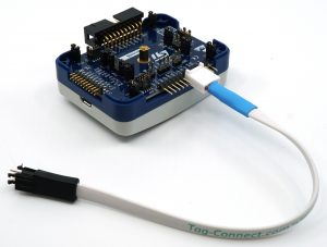 ST-Link V3 SET with Tag-Connect SWIM cable installed