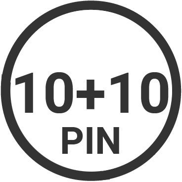 10+10 pin target connector